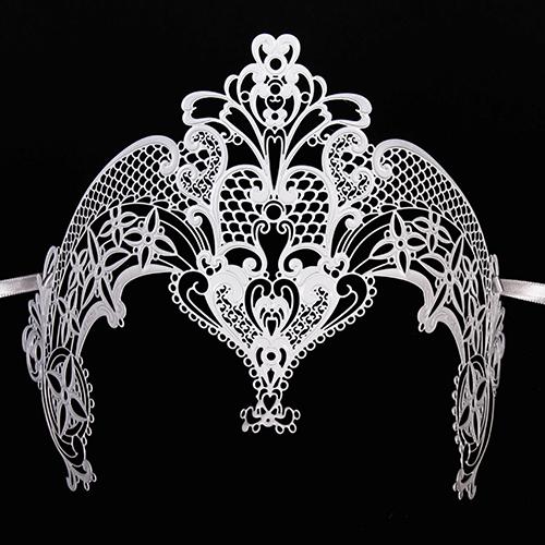 Corona in metallo bianca