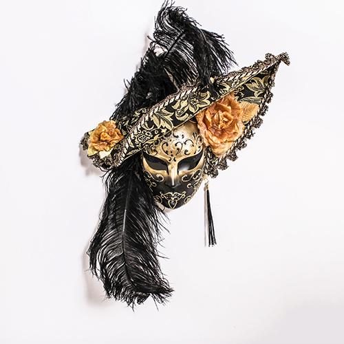 Dama Cappello Nera/Oro