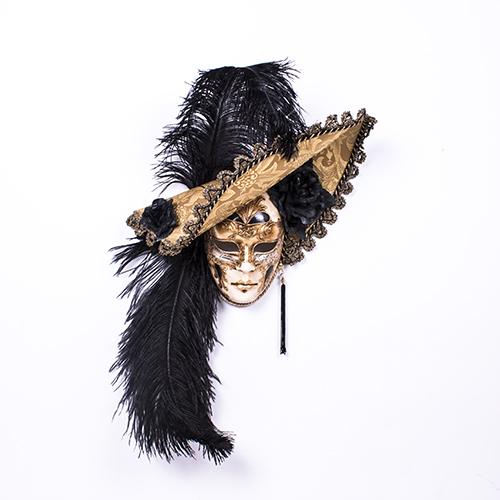 Dama Cappello Ricamo Oro