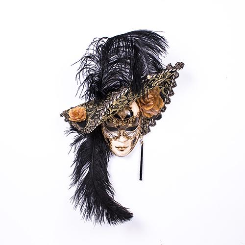 Dama Cappello Ricamo Nera