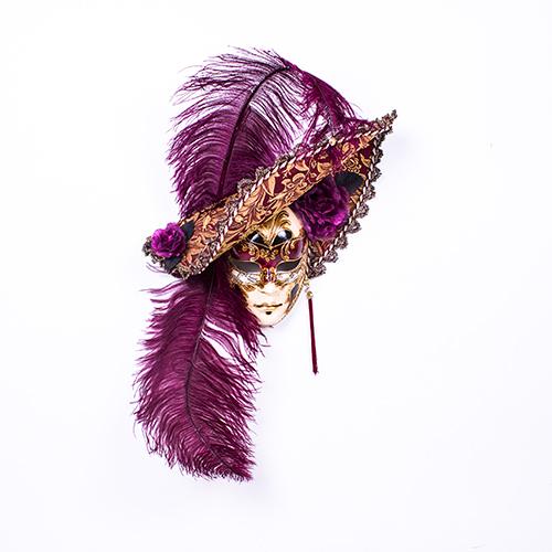 Dama Cappello Ricamo Rossa
