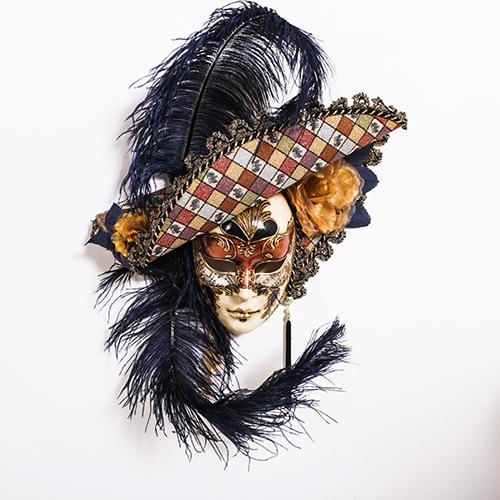 Dama Cappello Ricamo Rame