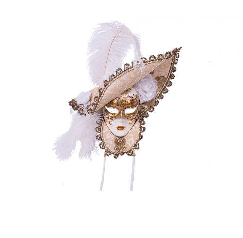 Dama Cappello Lusso Colletto Bianco